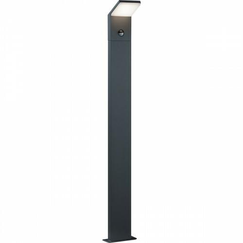 LED Tuinverlichting - Buitenlamp - Trion Pearly XL - Staand - Bewegingssensor - 9W - Mat Zwart - Aluminium