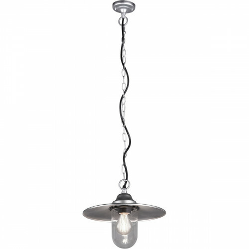 LED Tuinverlichting - Hanglamp - Trion Brinito - Plafond - E27 Fitting - Mat Grijs - Aluminium