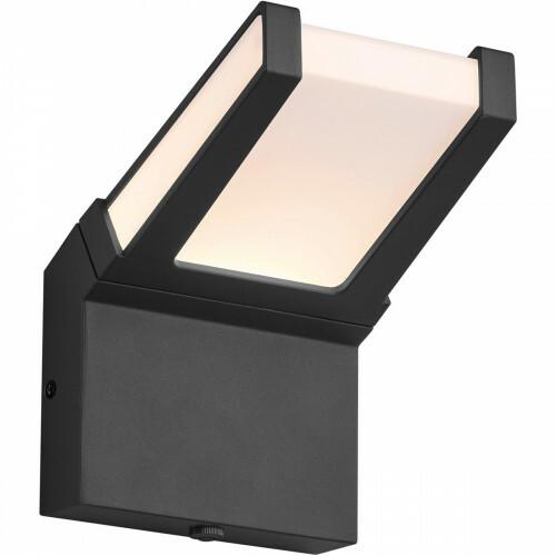 LED Tuinverlichting - Tuinlamp - Trion Gamby - Wand - Lichtsensor - 10W - Mat Zwart - Aluminium
