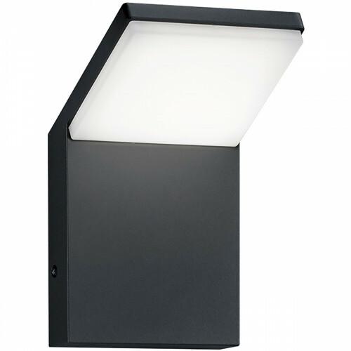 LED Tuinverlichting - Tuinlamp - Trion Pearly - Wand - 9W - Mat Zwart - Aluminium