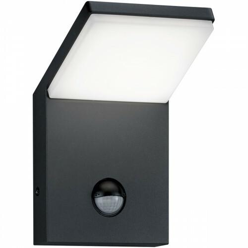 LED Tuinverlichting - Tuinlamp - Trion Pearly - Wand - Bewegingssensor - 9W - Mat Zwart - Aluminium