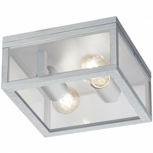 LED Tuinverlichting - Tuinlamp Plafond - Trion Garinola - E27 Fitting - 2-lichts - Mat Grijs - Aluminium