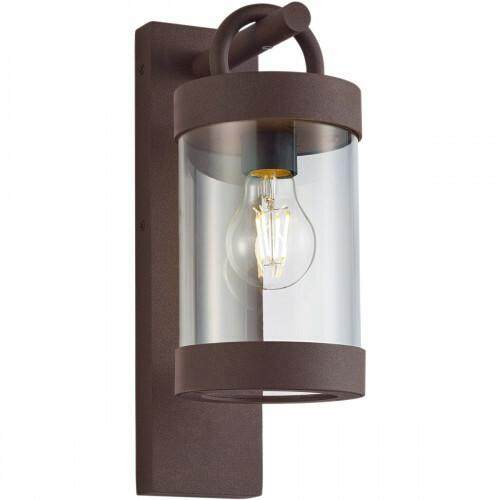 LED Tuinverlichting - Tuinlamp - Trion Semby - Wand - Lichtsensor - E27 Fitting - Roestkleur - Aluminium