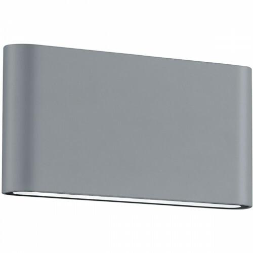 LED Tuinverlichting - Tuinlamp - Trion Thino - Wand - 8W - Mat Titaan - Aluminium