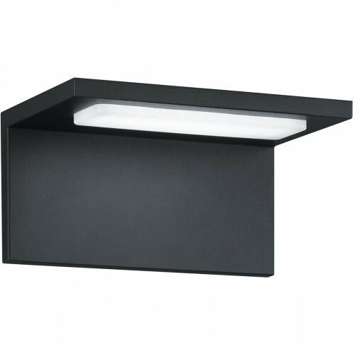 LED Tuinverlichting - Tuinlamp - Trion Tovery - Wand - 6W - Mat Zwart - Aluminium