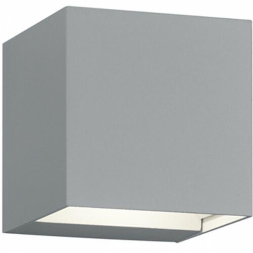 LED Tuinverlichting - Tuinlamp - Trion Adina - Wand - 6W - Warm Wit 3000K - Vierkant - Mat Titaan - Aluminium
