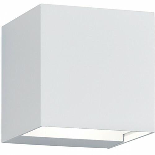 LED Tuinverlichting - Tuinlamp - Trion Adina - Wand - 6W - Warm Wit 3000K - Vierkant - Mat Wit - Aluminium