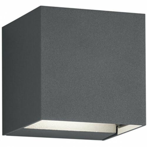 LED Tuinverlichting - Tuinlamp - Trion Adina - Wand - 6W - Warm Wit 3000K - Vierkant - Mat Zwart - Aluminium
