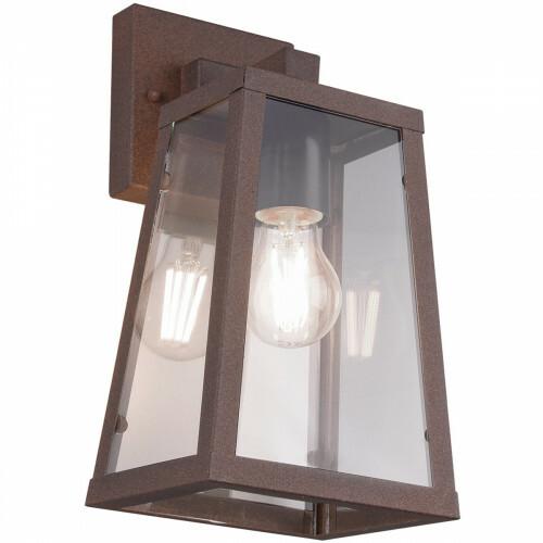 LED Tuinverlichting - Tuinlamp - Trion Aknaky - Wand - E27 Fitting - Roestkleur - Aluminium