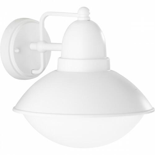 LED Tuinverlichting - Tuinlamp - Trion Amira - Wand - E27 Fitting - Mat Wit - Aluminium
