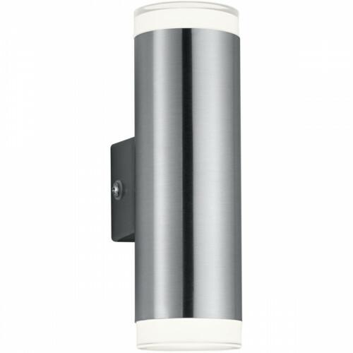 LED Tuinverlichting - Tuinlamp - Trion Arinat - Wand - 2-lichts - 4W - Warm Wit 3000K - Rond - Mat Nikkel - Aluminium