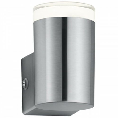LED Tuinverlichting - Tuinlamp - Trion Arinat - Wand - 4W - Warm Wit 3000K - Rond - Mat Nikkel - Aluminium