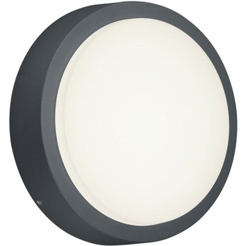 LED Tuinverlichting - Tuinlamp - Trion Bagry - Wand - 8W - Mat Zwart - Aluminium