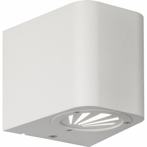 LED Tuinverlichting - Tuinlamp - Trion Bigoti - Wand - 6W - Mat Wit - Aluminium