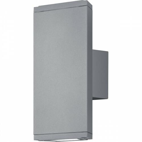 LED Tuinverlichting - Tuinlamp - Trion Colirano - Wand - 6W - Warm Wit 3000K - Rechthoek - Mat Titaan - Aluminium
