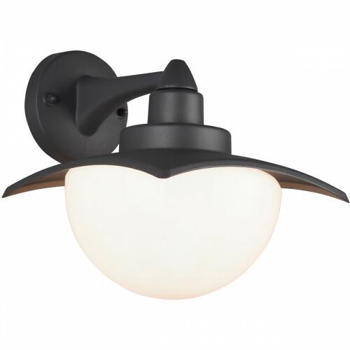 LED Tuinverlichting - Tuinlamp - Trion Danizo - Wand - E27 Fitting - Mat Zwart - Aluminium