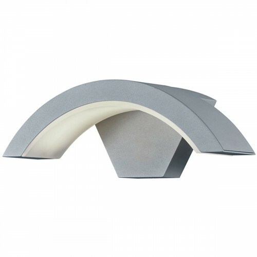 LED Tuinverlichting - Tuinlamp - Trion Hiarlon - Wand - 6W - Mat Titaan - Aluminium