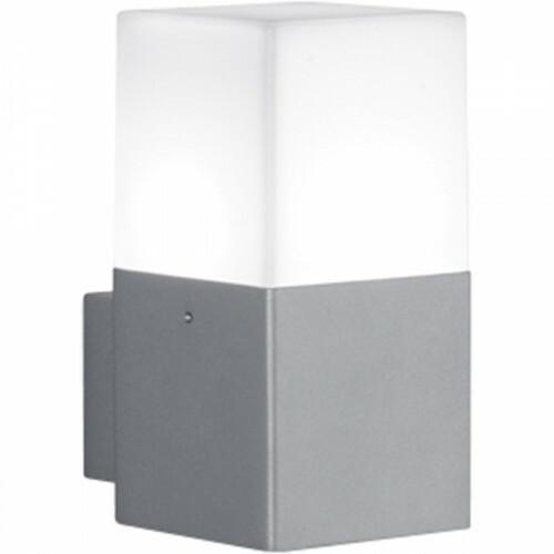 LED Tuinverlichting - Tuinlamp - Trion Hudsy - Wand - 4W - Warm Wit 3000K - Vierkant - Mat Titaan - Aluminium