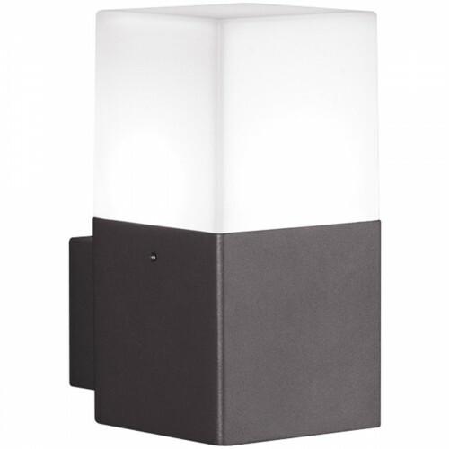 LED Tuinverlichting - Tuinlamp - Trion Hudsy - Wand - 4W - Warm Wit 3000K - Vierkant - Mat Zwart - Aluminium