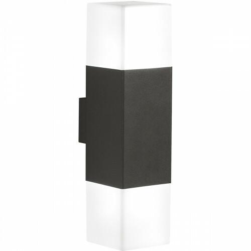 LED Tuinverlichting - Tuinlamp - Trion Hudsy - Wand - 8W - Warm Wit 3000K - Vierkant - Mat Zwart - Aluminium