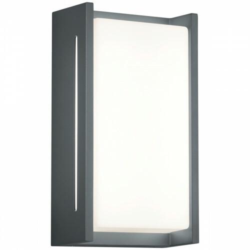 LED Tuinverlichting - Tuinlamp - Trion Indosi - Wand - 8W - Mat Zwart - Aluminium
