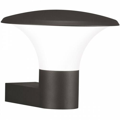 LED Tuinverlichting - Tuinlamp - Trion Karminy - Wand - 5W - E27 Fitting - Mat Zwart - Aluminium