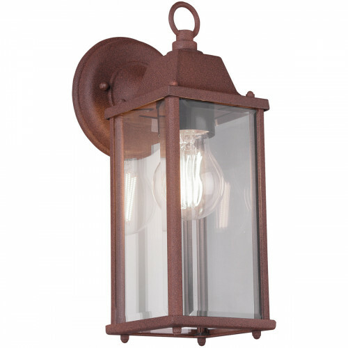 LED Tuinverlichting - Tuinlamp - Trion Olenany - Wand - E27 Fitting - Roestkleur - Aluminium
