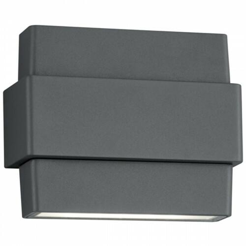 LED Tuinverlichting - Tuinlamp - Trion Padony - Wand - 8W - Mat Zwart - Aluminium