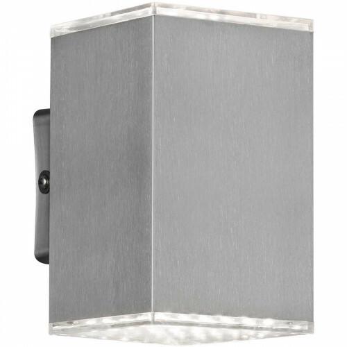 LED Tuinverlichting - Tuinlamp - Trion Qutino - Wand - 10W - Warm Wit 3000K - Mat Grijs - RVS