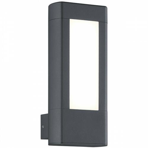 LED Tuinverlichting - Tuinlamp - Trion Rhinon - Wand - 9W - Warm Wit 3000K - Mat Antraciet - Aluminium