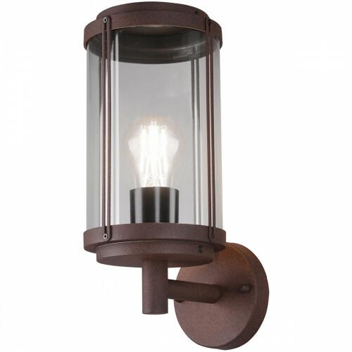 LED Tuinverlichting - Tuinlamp - Trion Taniron - Wand - E27 Fitting - Roestkleur - Aluminium