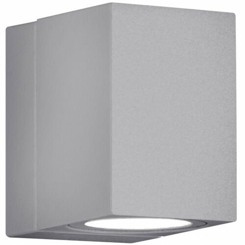 LED Tuinverlichting - Tuinlamp - Trion Tibena - Wand - 3W - Mat Titaan - Aluminium - Draaibaar