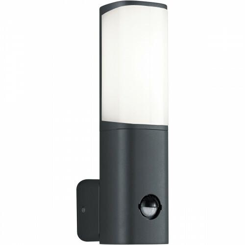 LED Tuinverlichting - Tuinlamp - Trion Ticani - Wand - Bewegingssensor - 5W - Mat Zwart - Aluminium