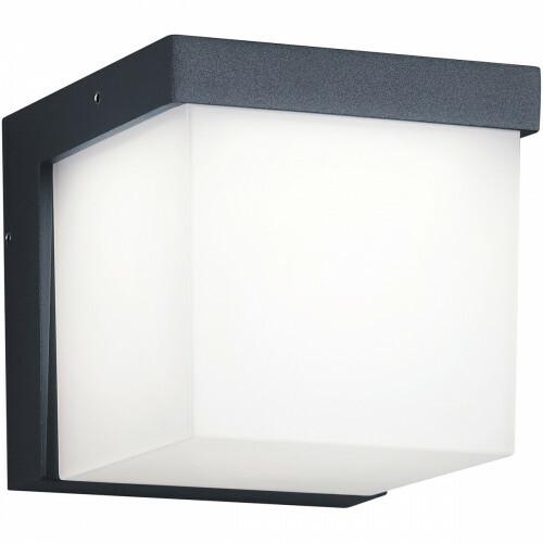 LED Tuinverlichting - Tuinlamp - Trion Yanely - Wand - 3W - Mat Antraciet - Aluminium