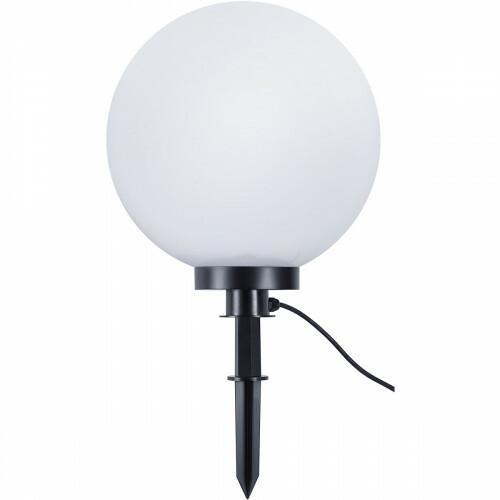 LED Priklamp met Stekker - Trion Balino - E27 Fitting - Mat Zwart - Kunststof - Ø400