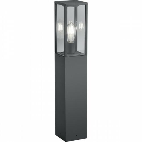 LED Tuinverlichting - Vloerlamp - Trion Garinola - Staand - E27 Fitting - Mat Zwart - Aluminium