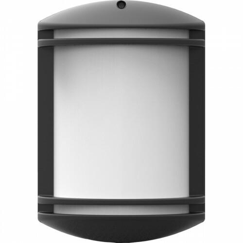 LED Tuinverlichting - Wandlamp - Achina 4 - Bewegingssensor - Kunststof Mat Zwart - E27 Fitting - Ovaal