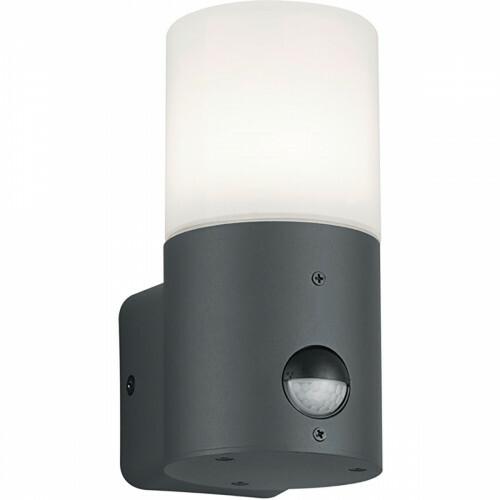 LED Tuinverlichting - Wandlamp - Trion Hosina - Bewegingssensor - E27 Fitting - Mat Zwart - Aluminium