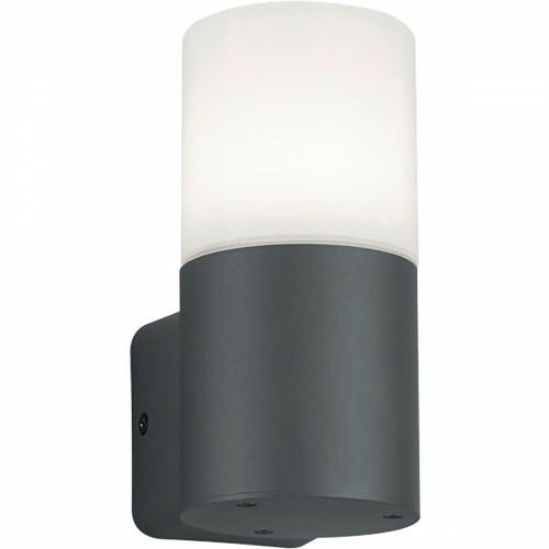 LED Tuinverlichting - Wandlamp - Trion Hosina - E27 Fitting - Mat Zwart - Aluminium