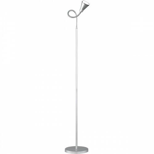 LED Vloerlamp - Trion Arora - 3W - Warm Wit 3000K - 1-lichts - Rond - Mat Titaan - Kunststof