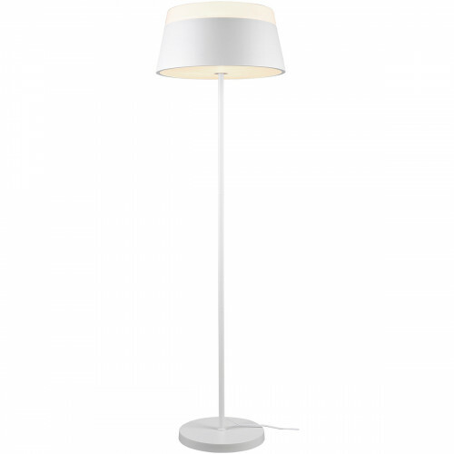LED Vloerlamp - Trion Barnaness - E27 Fitting - 3-lichts - Rond - Mat Wit - Aluminium