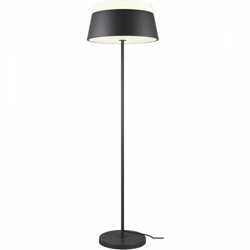 LED Vloerlamp - Trion Barnaness - E27 Fitting - 3-lichts - Rond - Mat Zwart - Aluminium