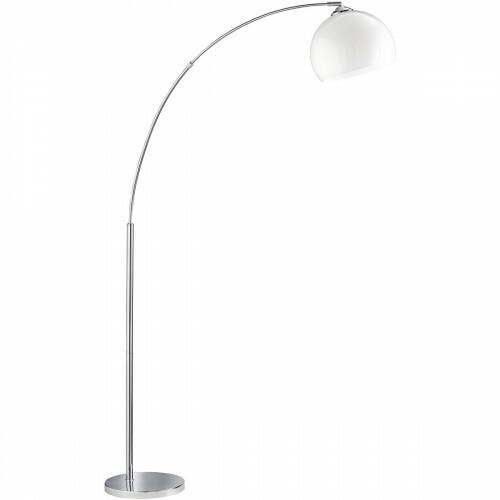 LED Vloerlamp - Trion Brostila - E27 Fitting - 1-lichts - Rond - Glans Chroom - Aluminium