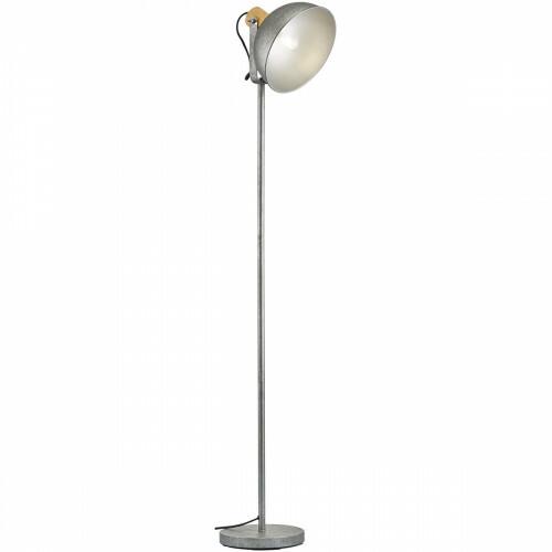 LED Vloerlamp - Trion Delvira - E27 Fitting - Rond - Antiek Nikkel - Aluminium