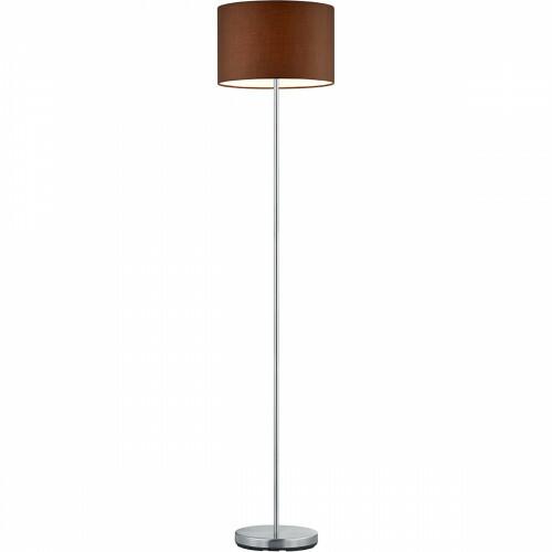LED Vloerlamp Trion Hotia E27 Fitting Rond Mat Bruin Aluminium