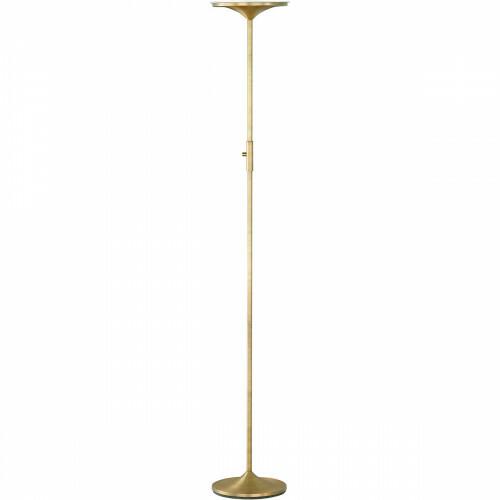 LED Vloerlamp - Trion Oringa - 20W - Warm Wit 3000K - Dimbaar - Rond - Oud Brons - Aluminium