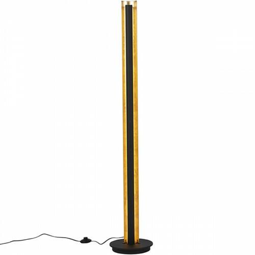 LED Vloerlamp - Trion Texy - 15W - Warm Wit 3000K - 1-lichts - Dimbaar - Rond - Mat Zwart - Aluminium