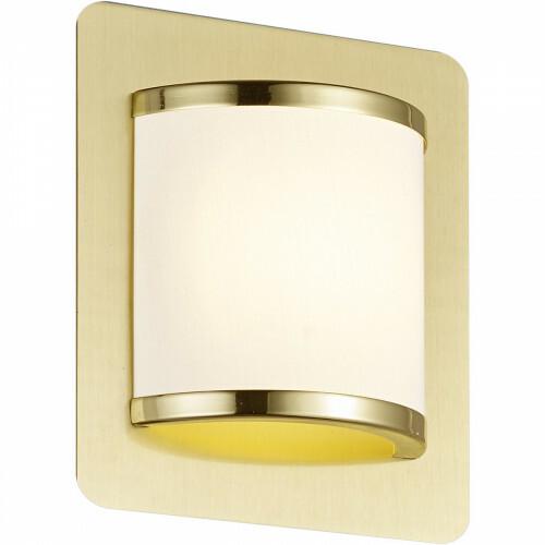 LED Wandlamp - Trion Agiany - 5W - Warm Wit 3000K - Rechthoek - Mat Goud - Aluminium/Textiel