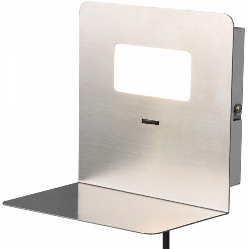 LED Wandlamp - Trion Alinoft - 3W - Warm Wit 3000K - USB Oplaadfunctie - Mat Nikkel - Aluminium