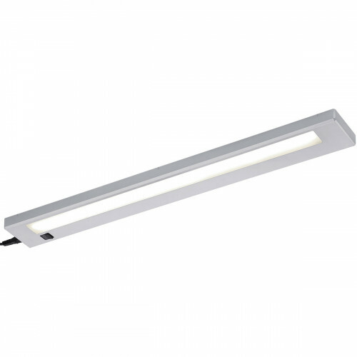 LED Keukenkast Verlichting - Trion Alyna - 7W - Warm Wit 3000K - Rechthoek - Mat Titaan